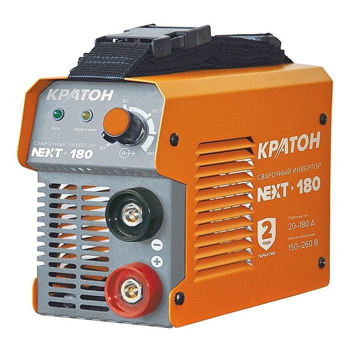 Инвертор сварочный Кратон NEXT-180, 6.6 кВт, 20-180 А, 1.6-4 мм