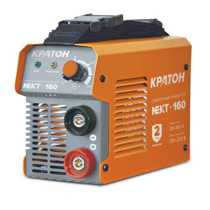 Инвертор сварочный Кратон NEXT-160, 6.6 кВт, 20-160 А, 1.6-4 мм