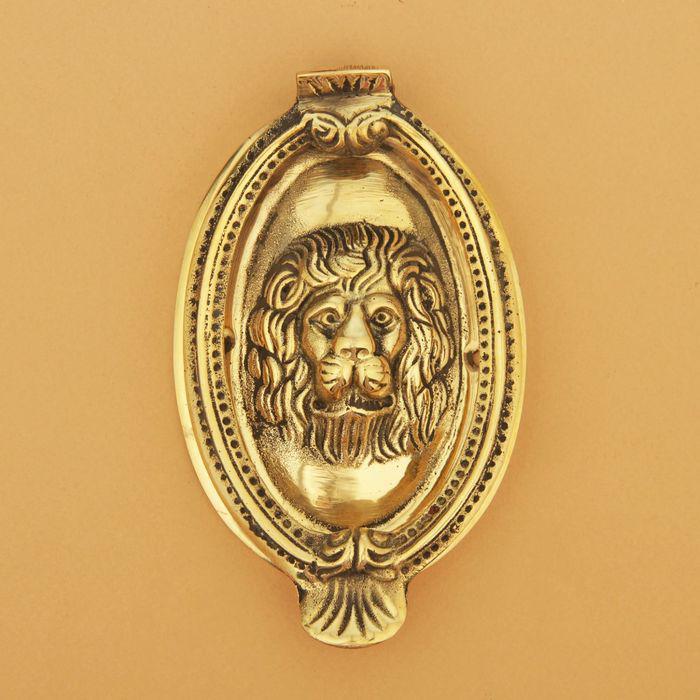 """Дверной молоток латунь """"Лев"""" 13,5х8,5х2,5 см"""
