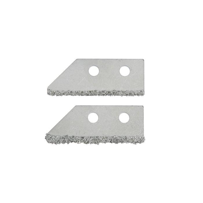 Лезвия для скребка по кафелю TUNDRA basic, вольфрам-карбидное напыление, 50 мм, 2 шт.