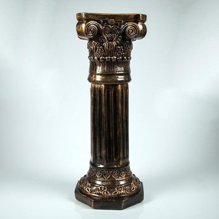"""Колонна """"Акрополь"""" высокая бронза 75 см"""