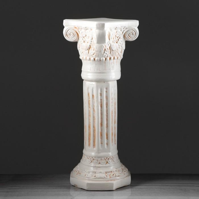 """Колонна """"Акрополь"""", высокая, состаренная, 80 см"""