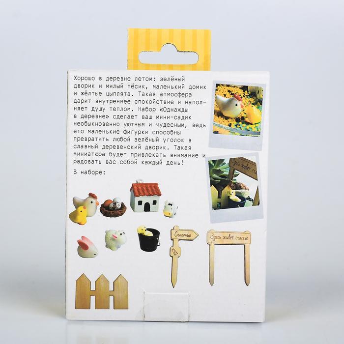 Набор для создания мини-садика «Однажды в деревне», 10 х 12 х 4 см