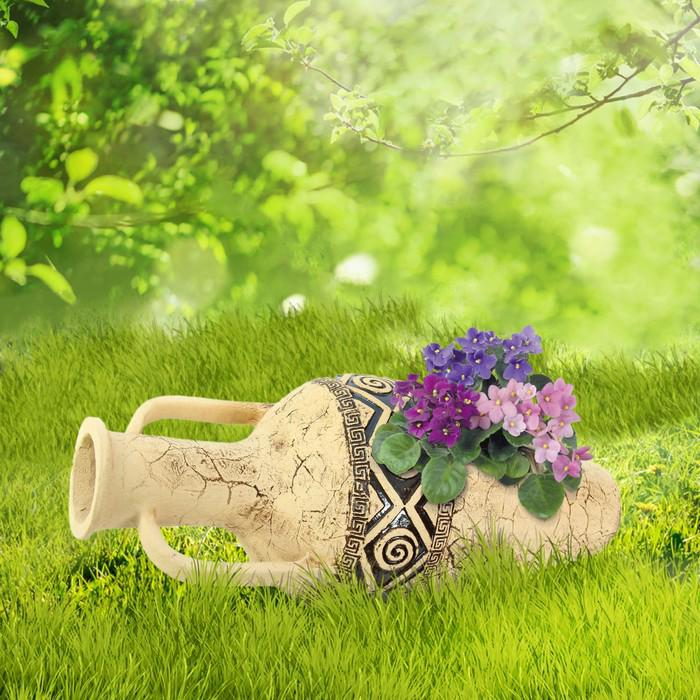 """Садовая фигура """"Рима"""" большая, амфора, шамот"""