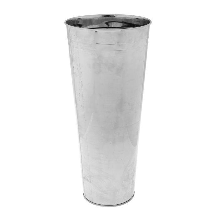 Вазон без ручек 11 л, высота 49 см, металл