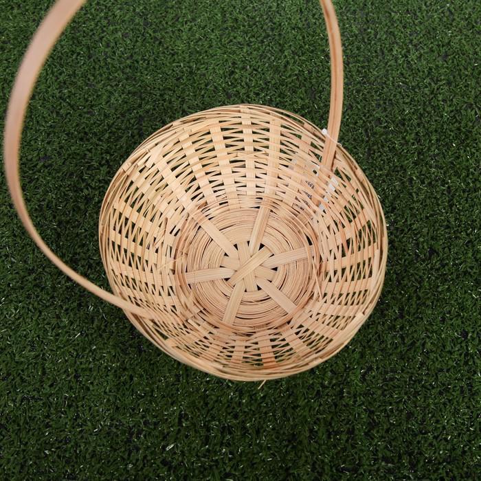 Корзина плетёная, бамбук, натуральный цвет, низкая