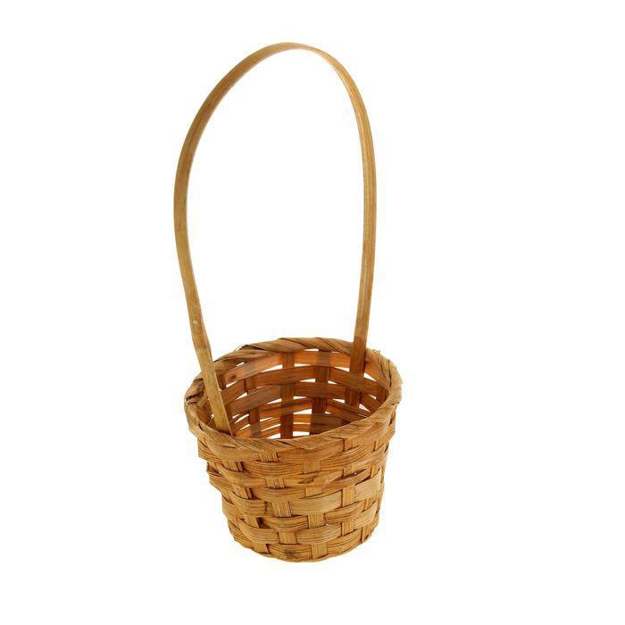 Корзина плетёная, бамбук, коричневая
