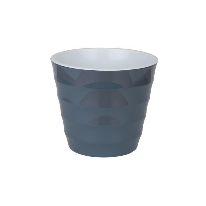 Пластиковый горшок с вкладкой «Лаура», цвет антрацит