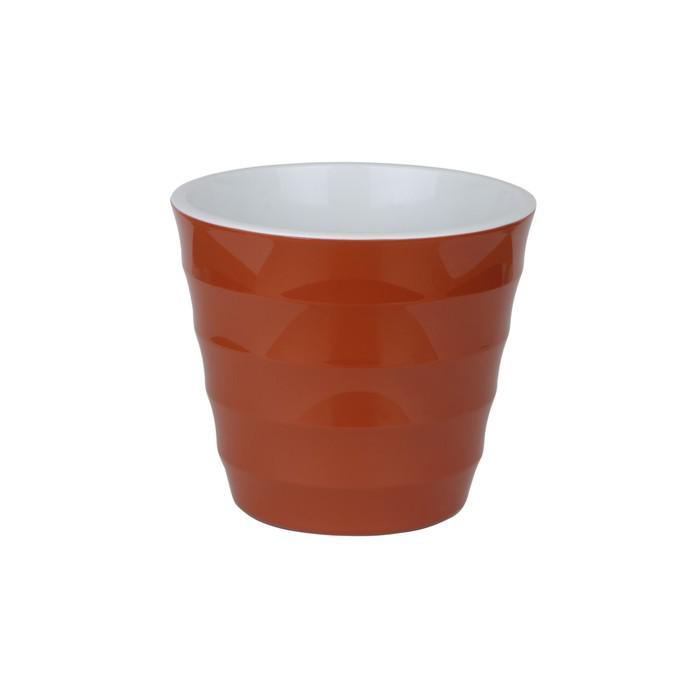 Пластиковый горшок с вкладкой «Лаура», цвет шоколад