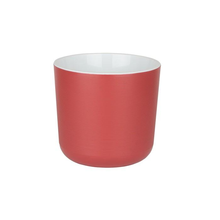 Пластиковый горшок с вкладкой «Лион», цвет бордо