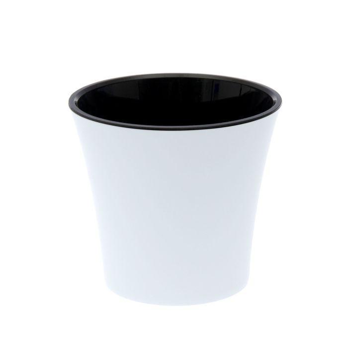 """Горшок 3,5 л """"Арте"""", цвет белый-чёрный"""