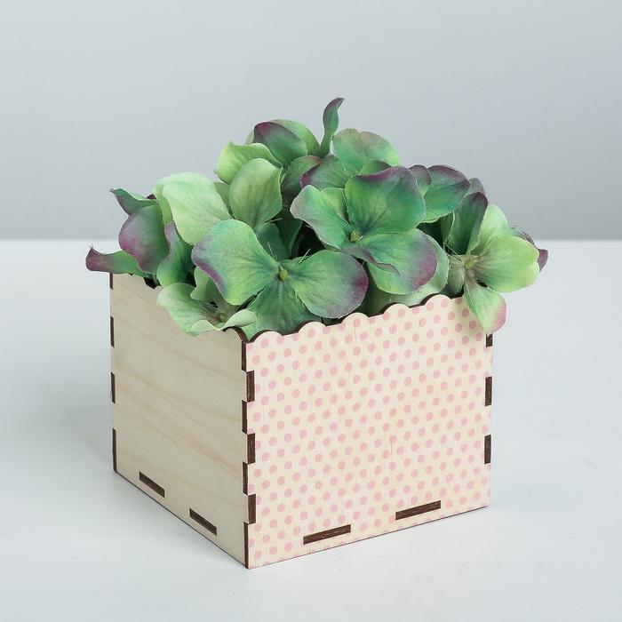 Кашпо флористическое «Горошинки», красный, 10 × 10 × 8.4 см