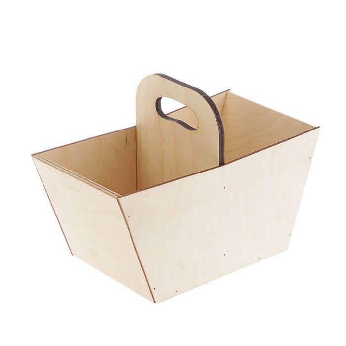 Заготовка ящик-корзинка без рисунка 24х12,5х17
