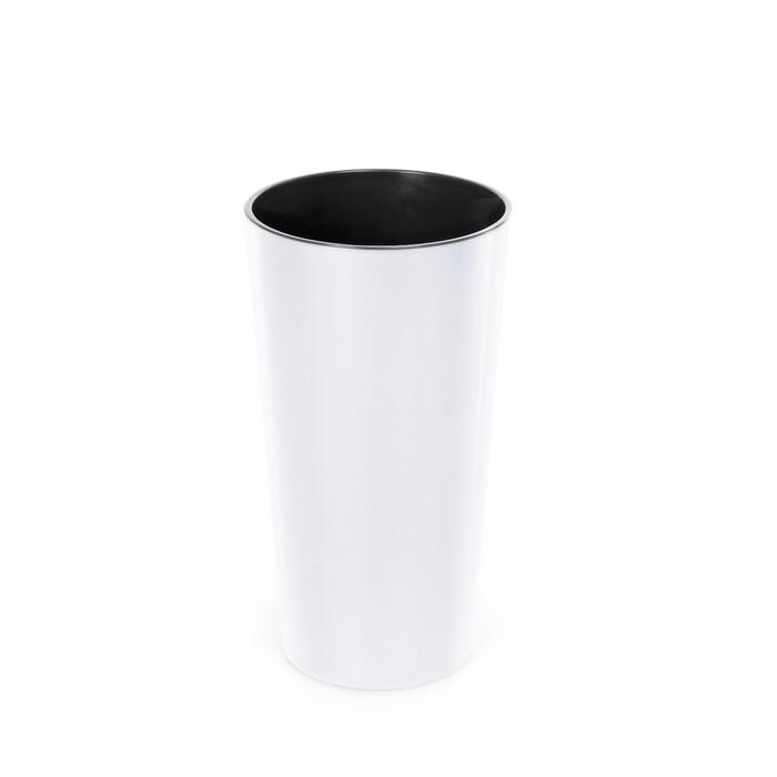 Пластиковый горшок с вкладкой «Лилия», цвет белый