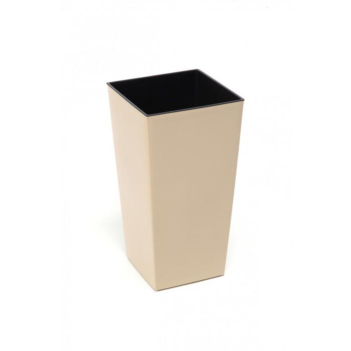 Пластиковый горшок с вкладышем «Финезия», цвет бежевый