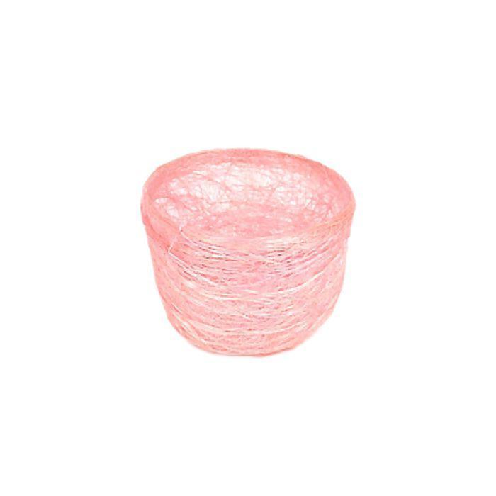 Кашпо, сизаль, круг, гиацинт розовая 7 х 10 см