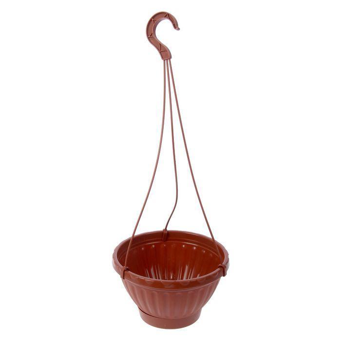 """Горшок-кашпо подвесной с поддоном 1,5 л """"Мирабель"""", цвет коричневый"""