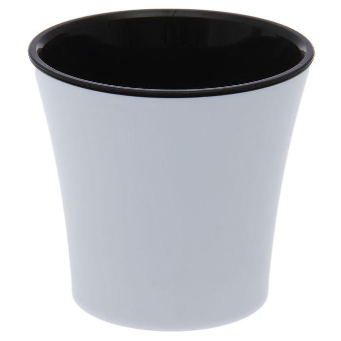 """Горшок 600 мл """"Арте"""", цвет бело-черный"""