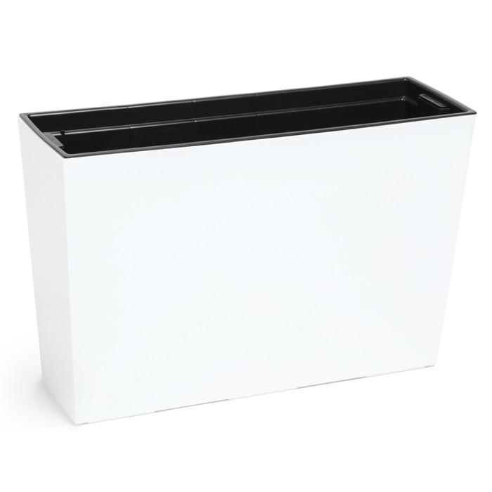 Пластиковый горшок-контейнер с вкладкой «Вербена», цвет белый