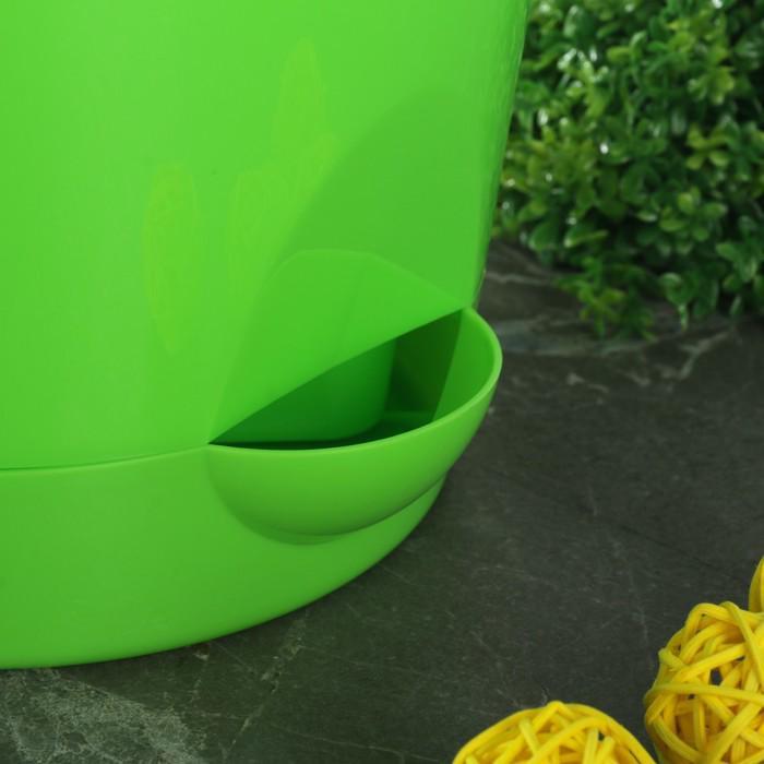 """Кашпо с прикорневым поливом 2,7 л, d=18 см """"Ника"""", цвет ярко-зеленый"""