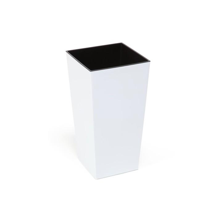 Пластиковый горшок с вкладышем «Финезия», цвет белый