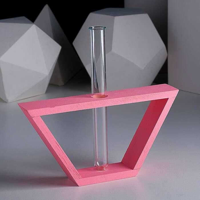 """Рамка-ваза """"Кораблик"""", 22 х 11,5 см, розовый"""