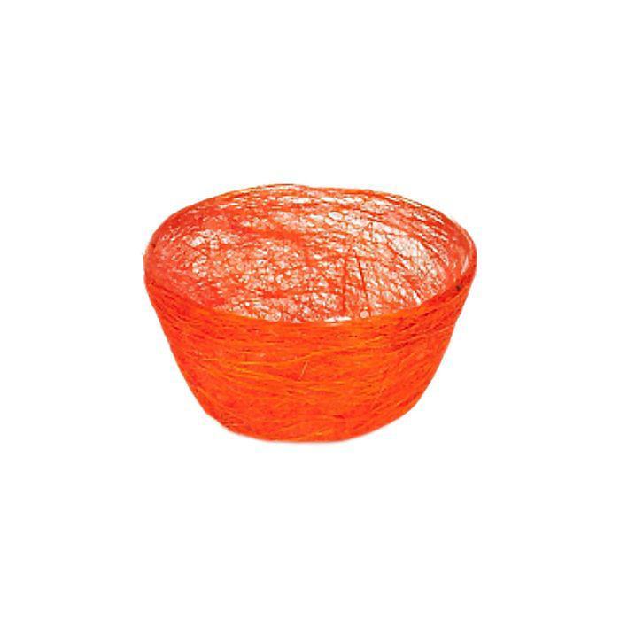 Кашпо, сизаль, круг, диффенбахия ярко-оранжевая 8 х 17 см