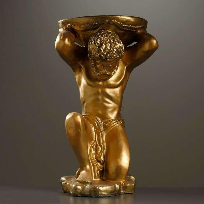 """Фигура с кашпо """"Титан"""" бронза 73см"""