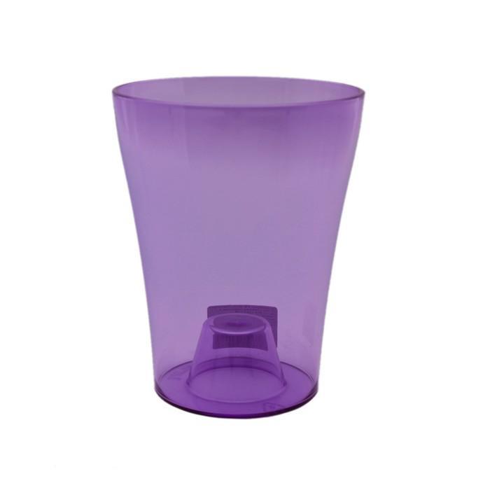 Горшок для орхидей «Тиса», цвет фиолетово-прозрачный