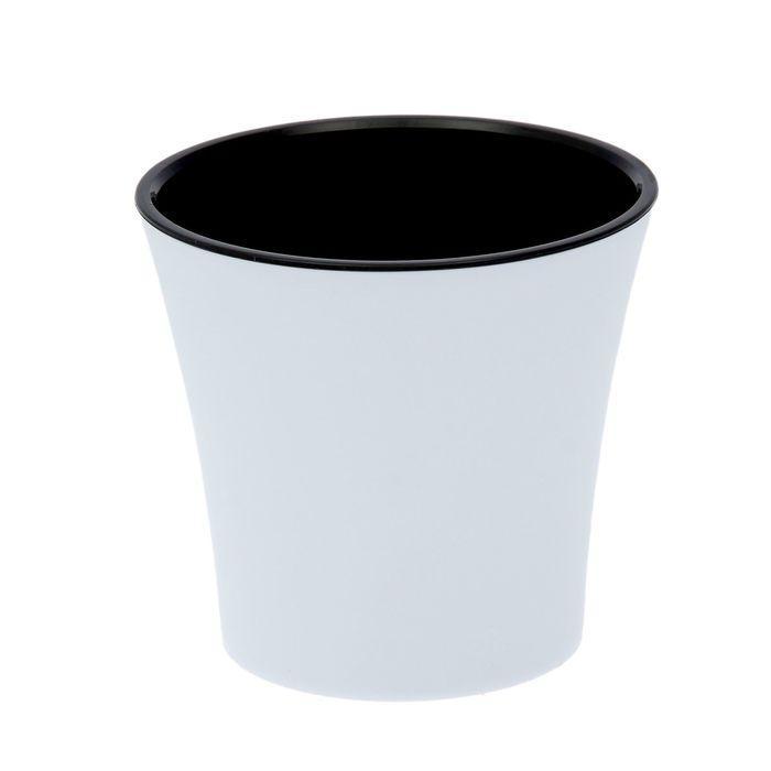 """Горшок 1,2 л """"Арте"""", цвет белый-черный"""