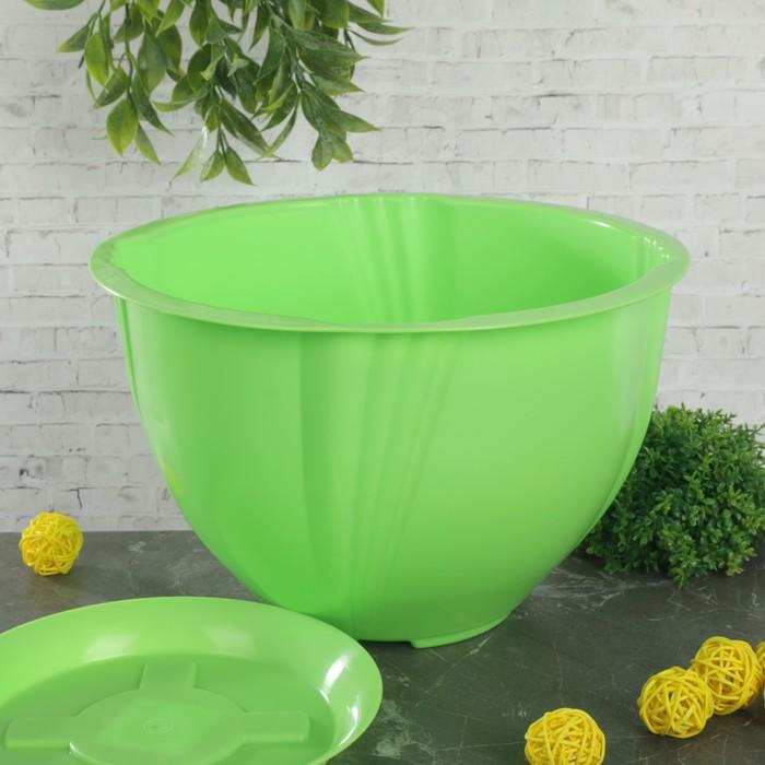 """Кашпо с поддоном 5 л """"Diana"""", цвет зелёный"""