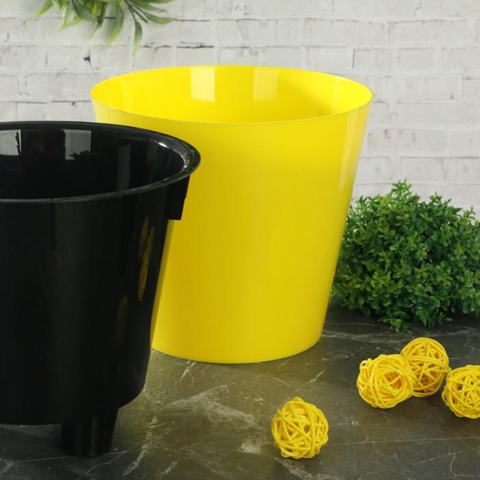 """Горшок 1,6 л, d=16 см """"Фиджи"""", цвет желтый"""