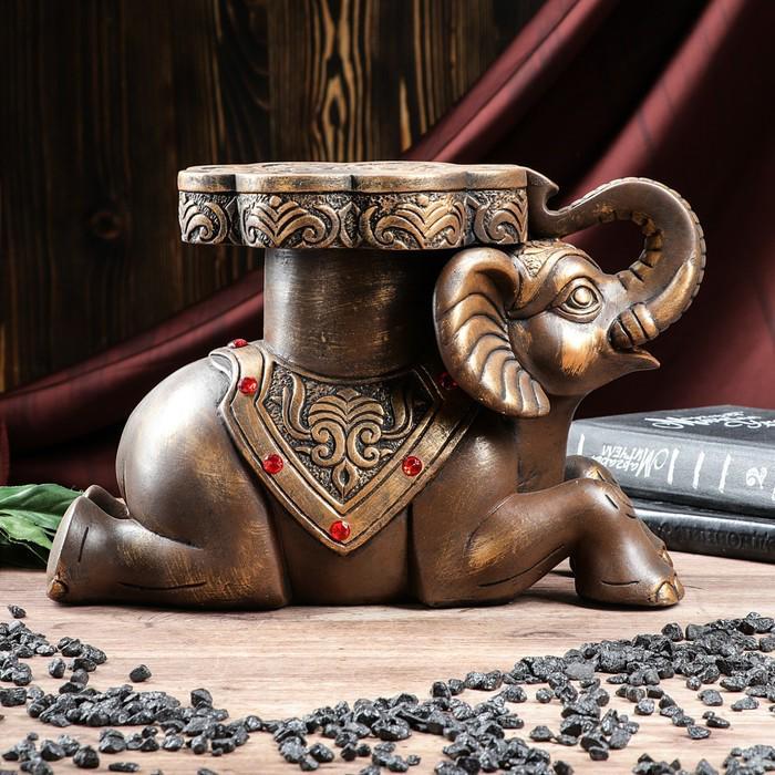 "Статуэтка ""Слон №7"" большой 32 х 22 см бронза"