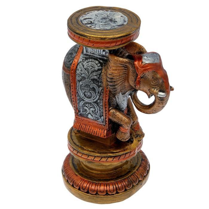 """Подставка декоративная """"Индийский слон"""", высокий, цветной, микс"""