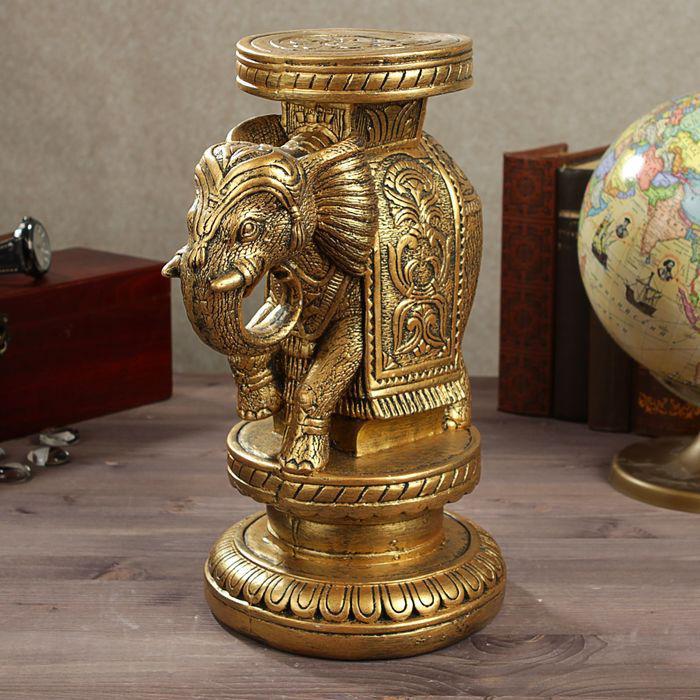 "Подставка декоративная ""Слон индийский"", бронза"