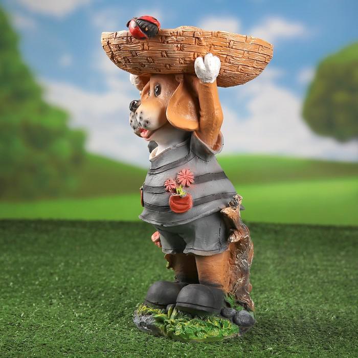 Собака поилка-кормушка для птиц 21*20*38см