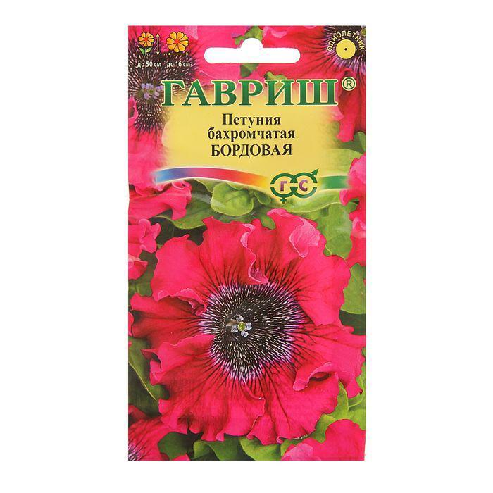 """Семена цветов Петуния """"Бордовая"""", бахромчатая, О, пробирка, 10 шт."""