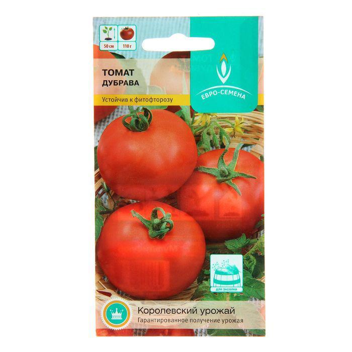 Семена Томат Дубрава Дубок, низкорослый, 0,1 гр