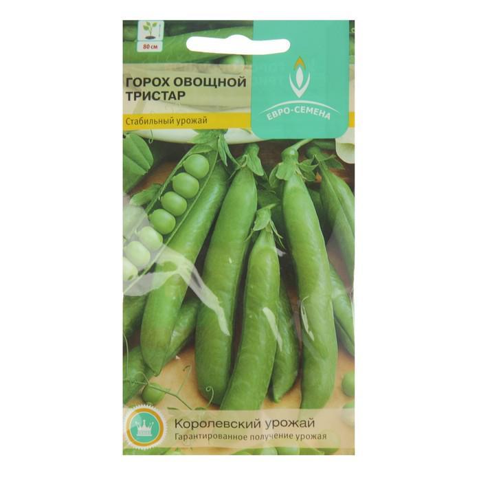 Семена Горох Тристар овощной среднеспелый, среднерослый, очень сладкий 5 г.