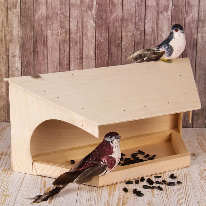 Кормушка для птиц «Веранда», 40 × 17 × 16 см