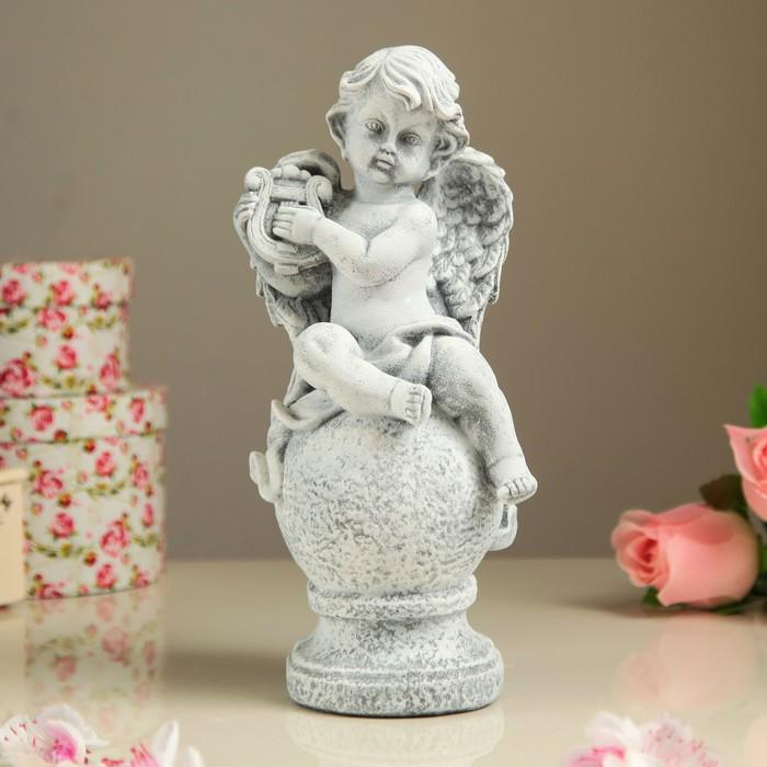 "Статуэтка ""Ангел на шаре с гуслями"" камень"