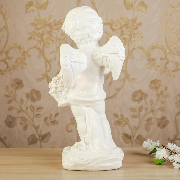 """Статуэтка """"Ангел девочка с корзиной"""" позолота, 48 см"""