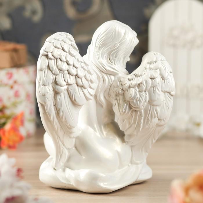 "Статуэтка ""Ангел-девушка"", белая"