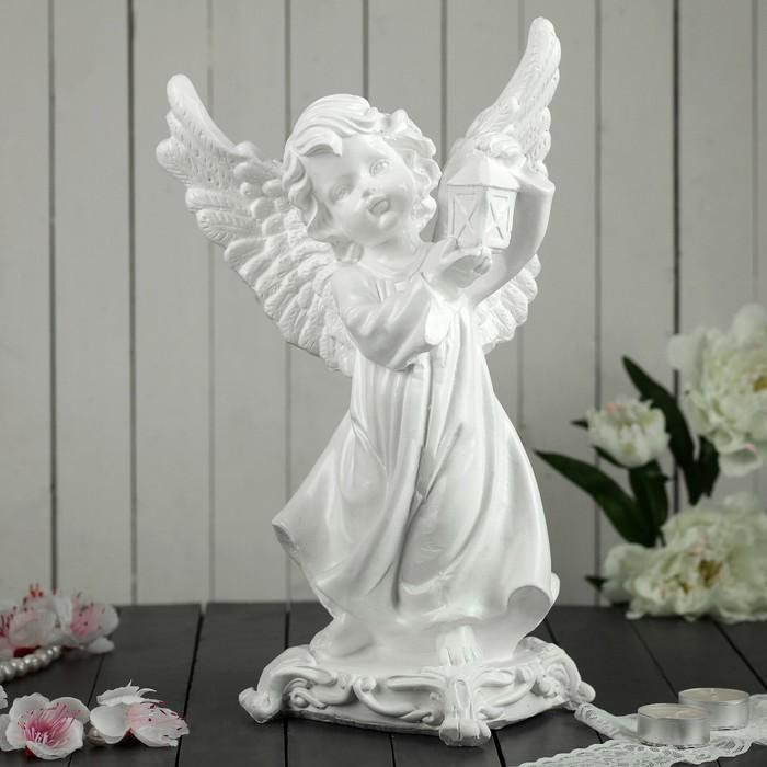 "Сувенир ""Ангел с фонарем"" белый"