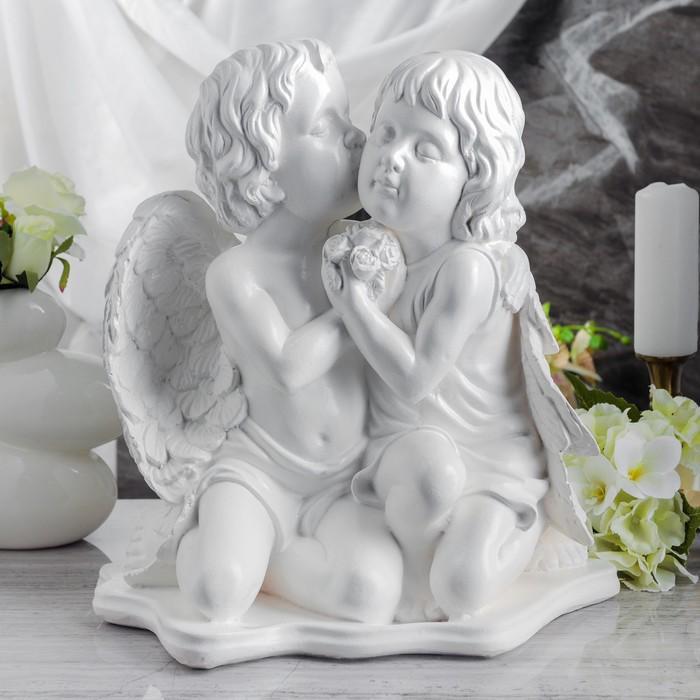 """Статуэтка """"Ангелы пара"""" белая, огромная"""