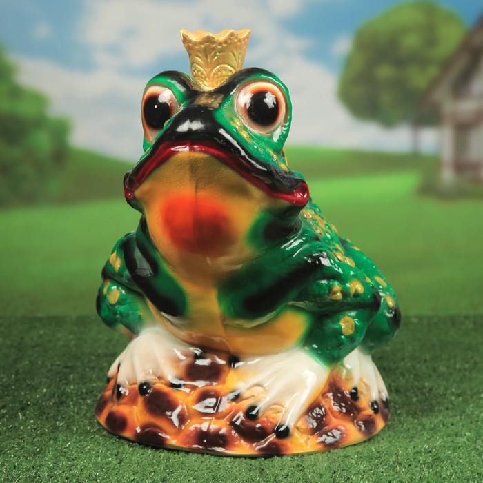 """Садовая фигура """"Царевна-лягушка"""" глянец, зелёная"""