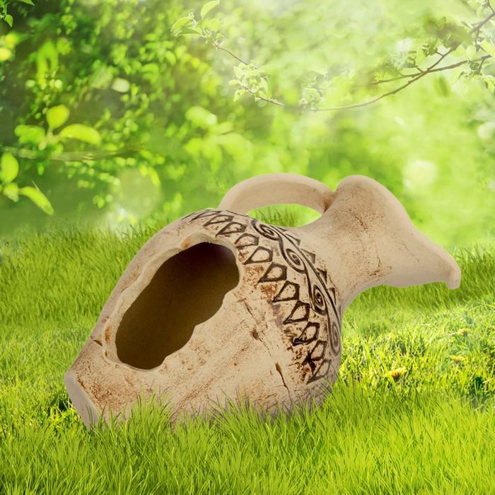 """Садовая фигура """"Одиссей"""" амфора, шамот"""