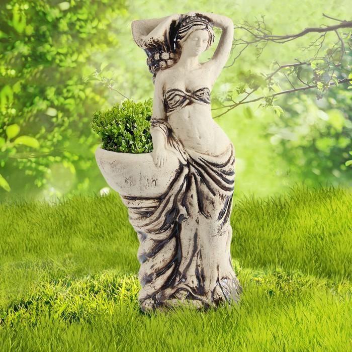 """Садовая фигура с кашпо """"Афродита"""" шамот"""