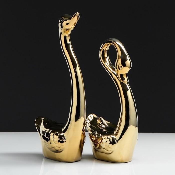 """Набор сувениров """"Кай и Герда"""" 2 шт., булат, золото"""