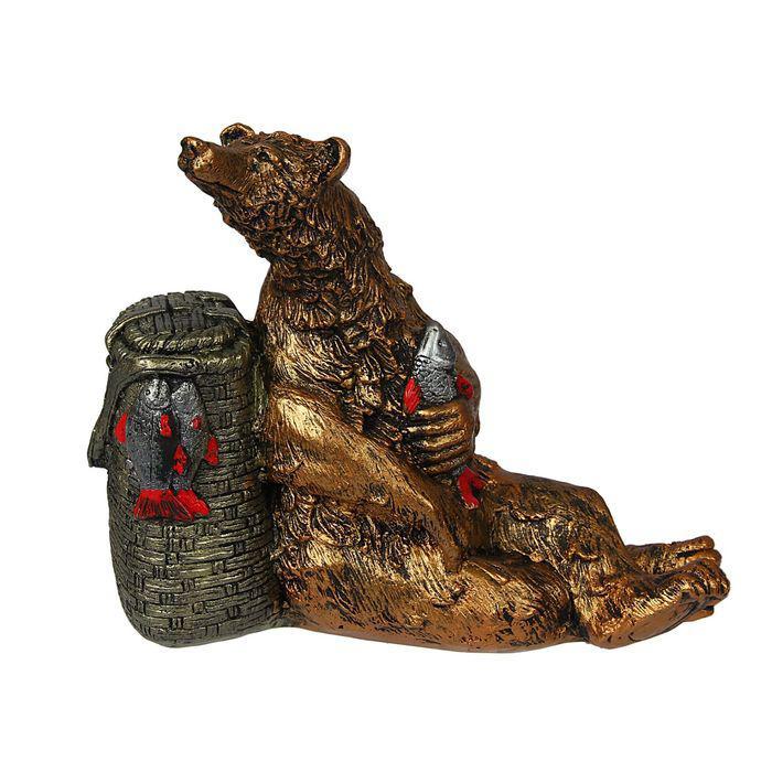 """Сувенир """"Медведь с корзиной"""""""